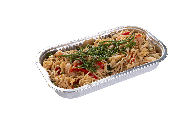 Noodles Met Garnalen En Zeekraal