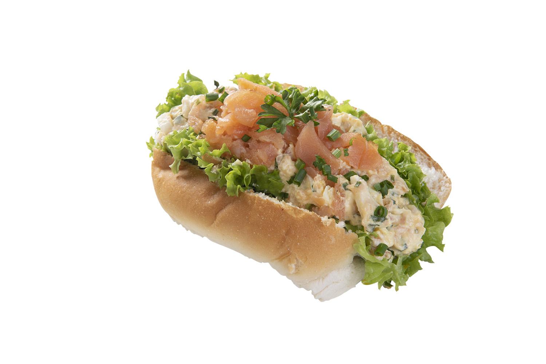 Broodje Zalm Ei Bieslook Salade