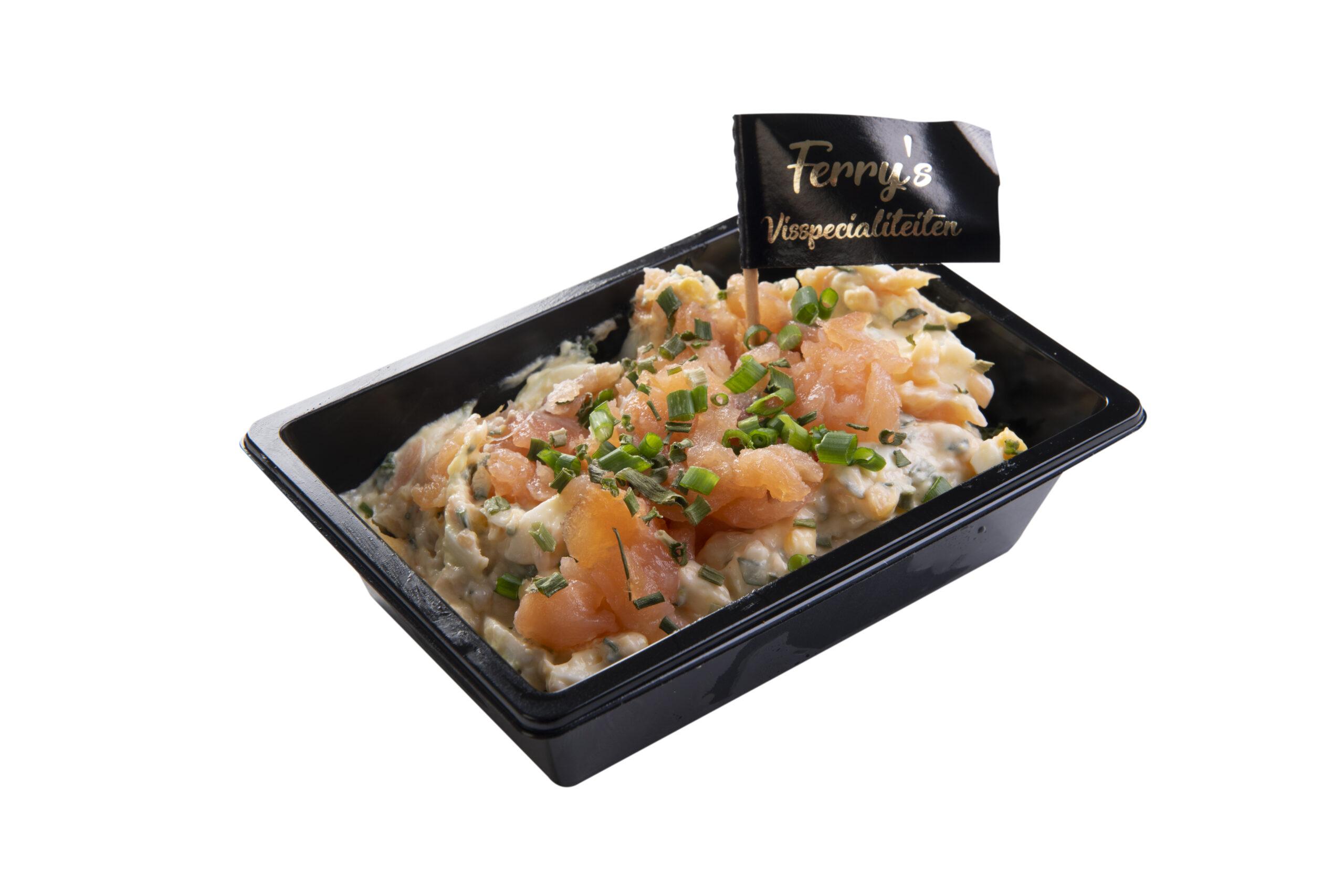 Zalm Ei Bieslook Salade Per 100 Gram